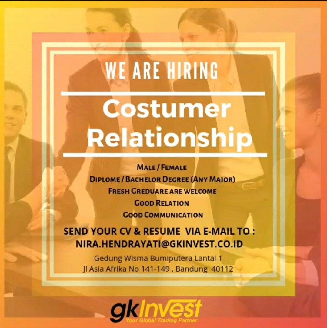 Lowongan Kerja  PT.Global Kapital Investama ( GK Invest  ) Bandung Mei 2020