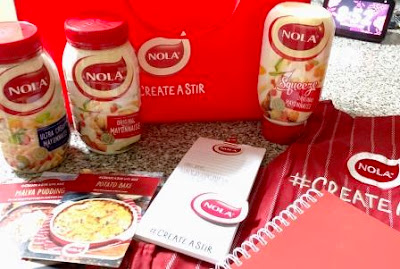 3 types of Nola Mayonnaise, recipes, apron, Nola notebook and bag
