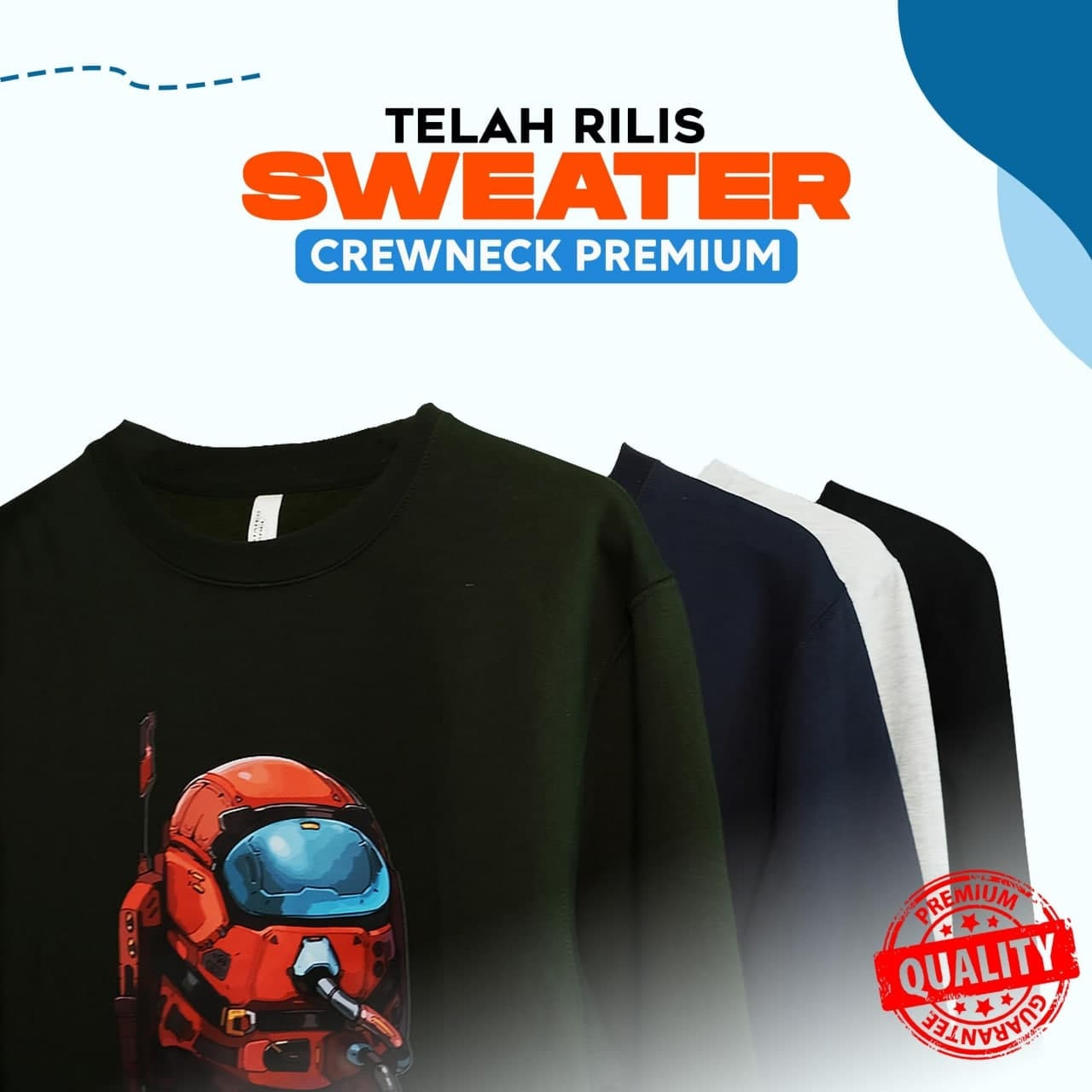Costom Sweater Crewneck Premium