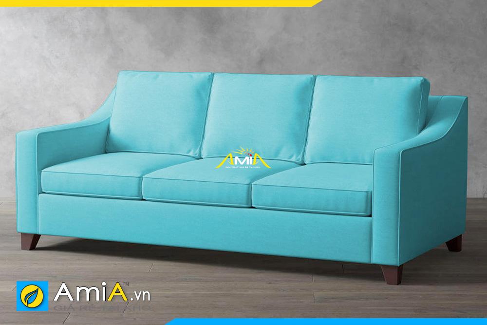 Ghế sofa văng nỉ màu xanh trẻ trung