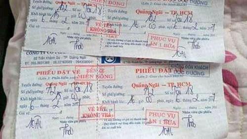 Xe Bình Tâm nhồi nhét khách chạy bon bon từ Quảng Ngãi đến TP.HCM