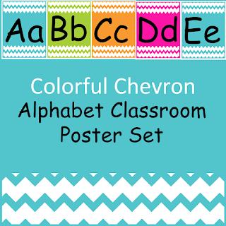 Chevron Alphabet Poster Set