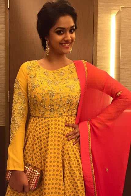 Keerthy Suresh In Yellow Dress