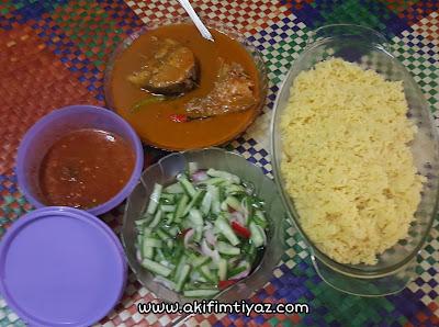 Resipi nasi kuning terengganu, nasi kuning terengganu, cara masak nasi kuning terengganu, nasi kuning gulai ikan aya, nasi kuning paling sedap,