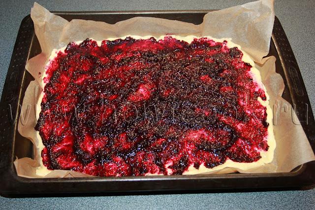 рецепт песочного пирога с вареньем с пошаговыми фото