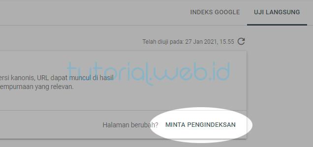 Cara Index Artikel ke Google 3. Minta Pengindeksan