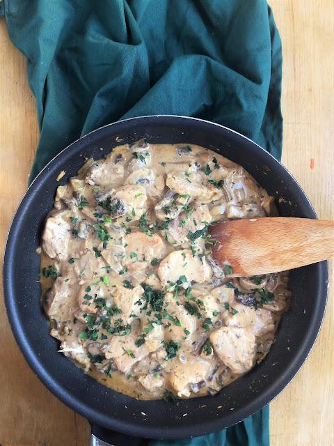 Polędwiczki wieprzowe w sosie grzybowym / Pork Tenderloin in Mushroom Sauce