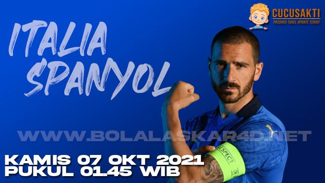 Prediksi Bola Italia vs Spanyol Kamis 07 Oktober 2021