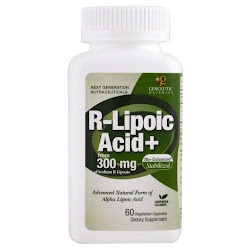 Genceutic Naturals, R-липоевая кислота+, 300 мг, 60 вегетарианских капсул