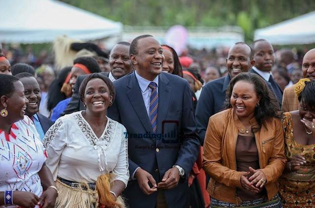 Aden Duale and Anne Waiguru and President Uhuru Kenyatta photo
