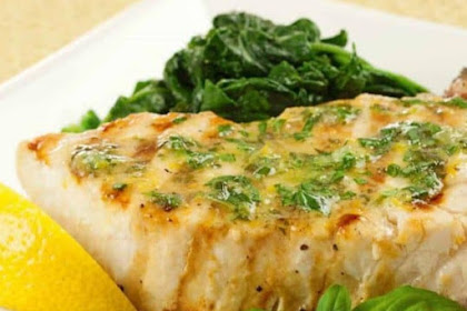 Grilled Swordfish With Lemon Basil Butter