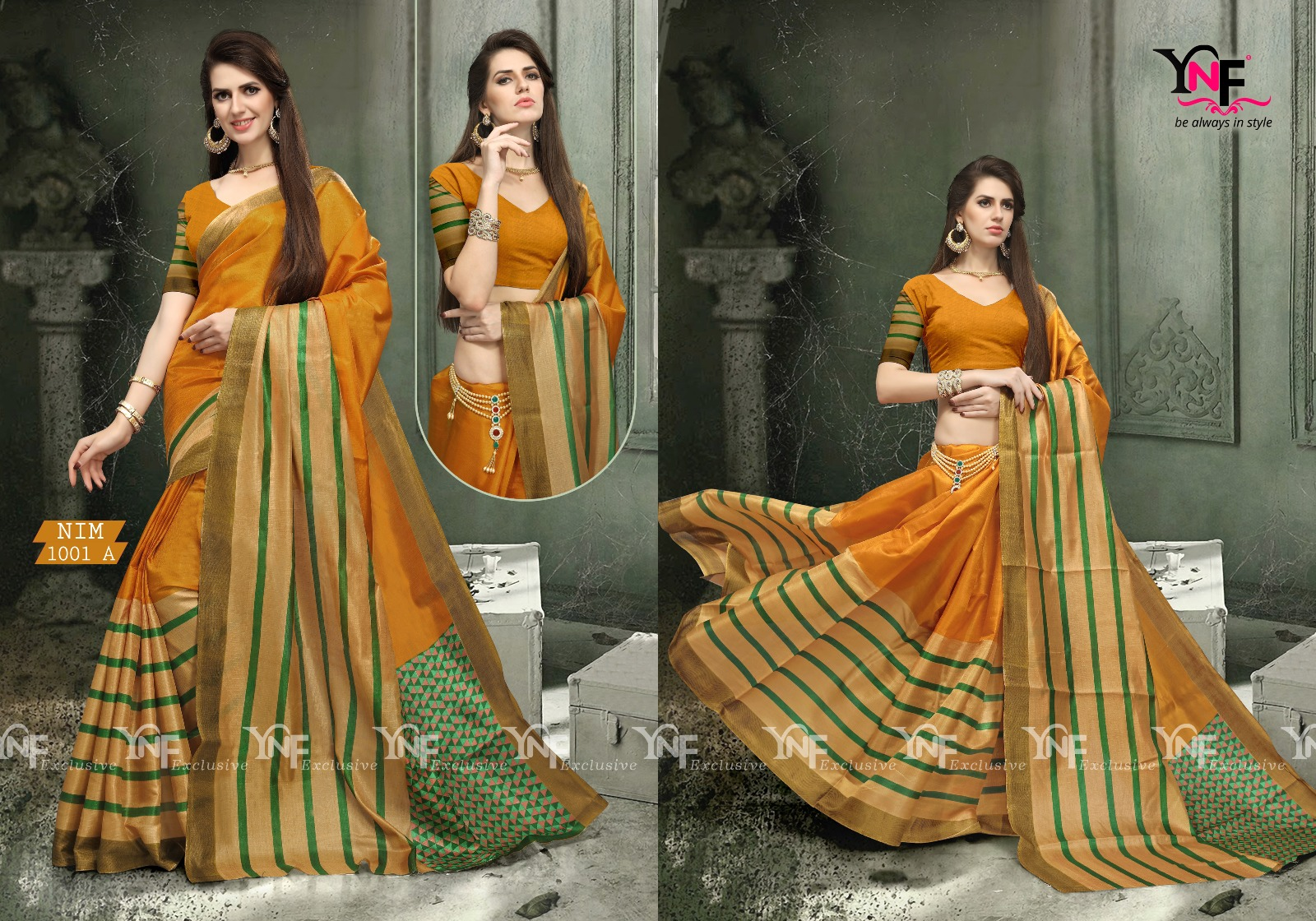 Nimmi Aura – New Stylish Printed Saree Buy Online