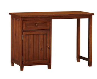 pottery barn stained desk