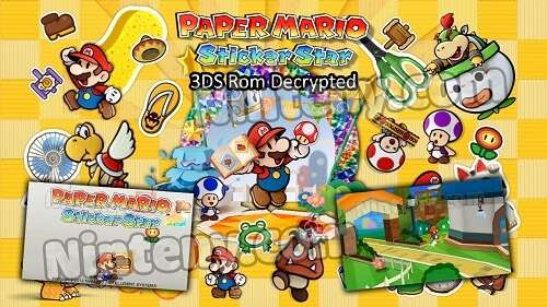 Paper Mario Sticker Star 3DS Decrypted
