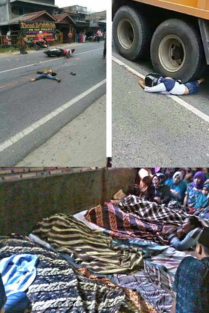Korban yang tewas digilas truk di Asahan