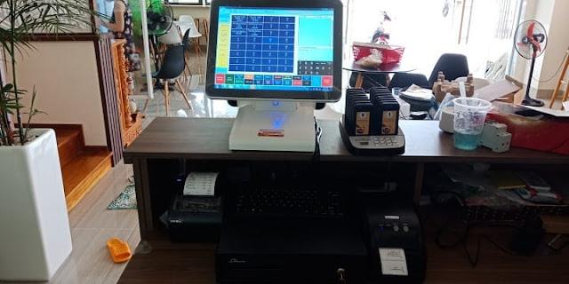 Bán máy tính tiền pos dùng cho tiệm nail-salon tóc