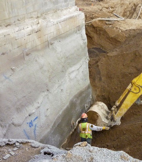 Damaging foundation due to excavation.