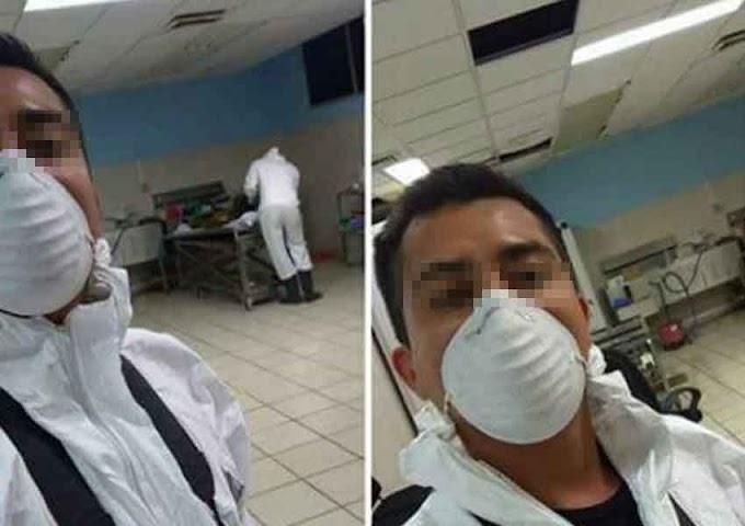Se toma selfie en morgue de Cabo San Lucas y la presume por 'face'