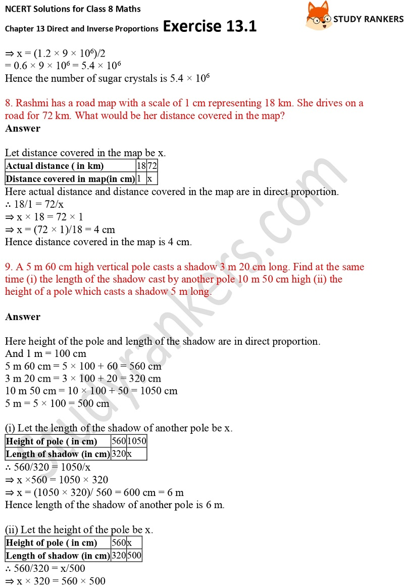 NCERT Solutions for Class 8 Maths Ch 13 Direct and Inverse Proportions Exercise 13.1 4