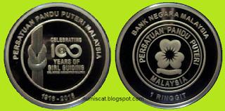 Nordic Gold Pruf RM1 100 Tahun Persatuan Pandu Puteri Malaysia