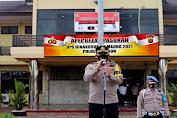 Ciptakan Harkamtibmas, Polres Cilegon Laksanakan Apel Gelar Pasukan Ops Bina Kusuma Maung 2021