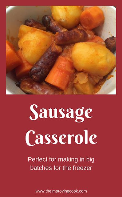 Sausage Casserole- pinnable image