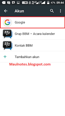 Maulnotes.blogspot.com - Cara Log Out Akun Gmail Di Android