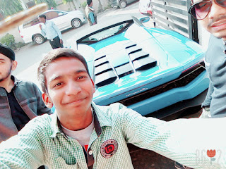 Dazzler Kumar Lamborghini Huracan In Lucknow Deepak kumar