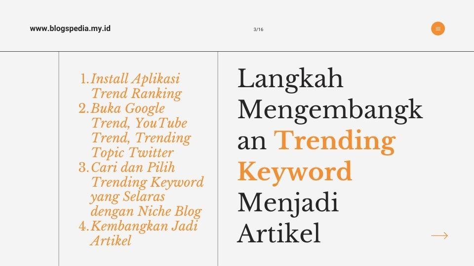 tahapan mengembangkan trending keyword
