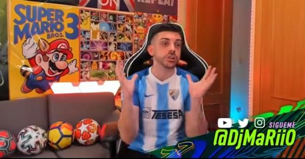 DjMaRiiO se enfunda la camiseta del Málaga en un vídeo de YouTube