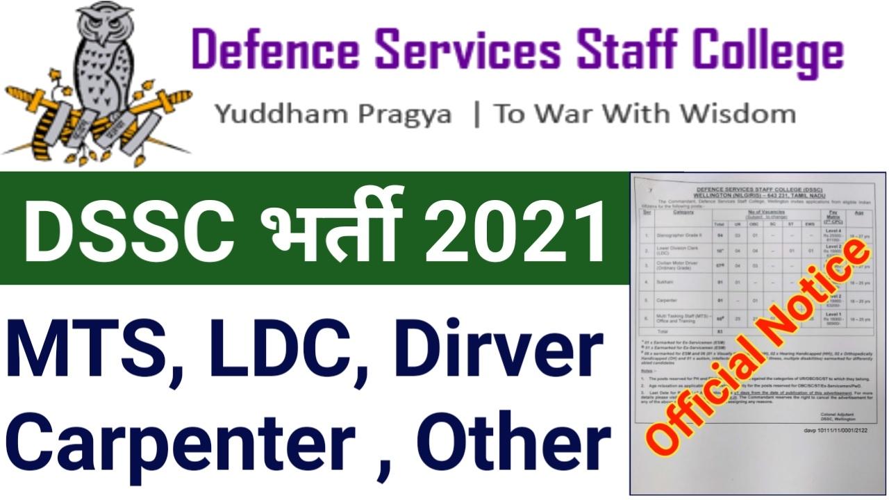 DSSC Recruitment 2021