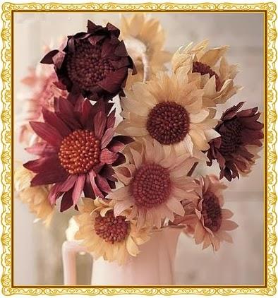 Kuru Mısırdan Elişi Çiçek Yapımı
