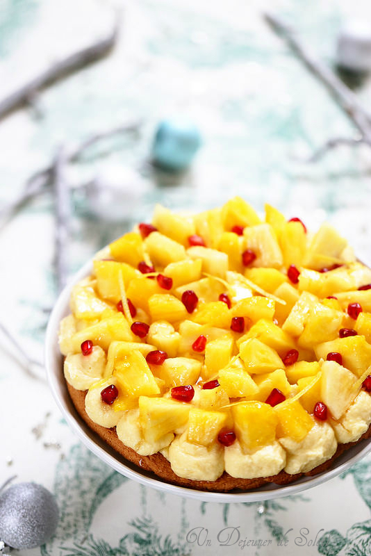 Entremets coco ananas