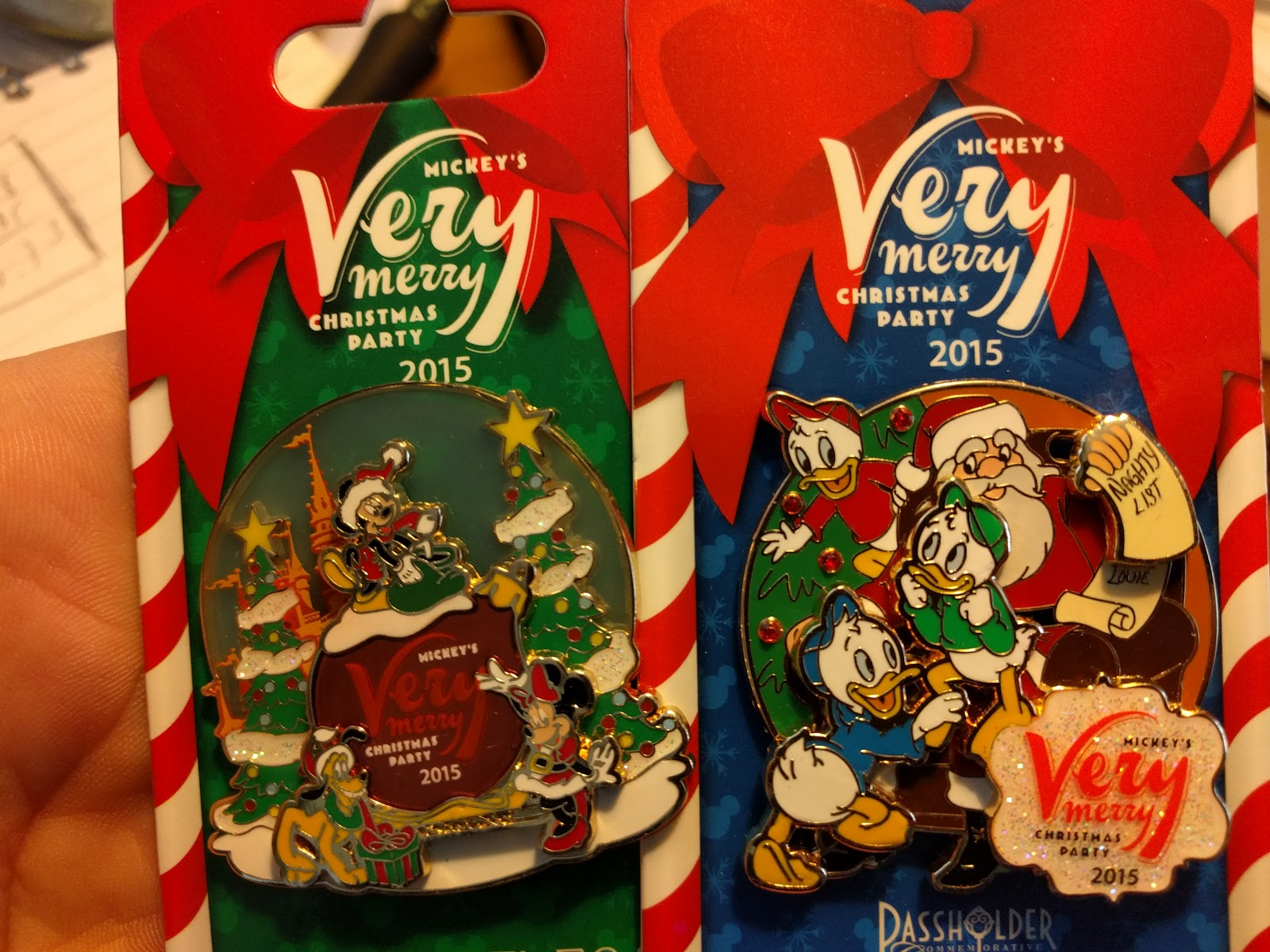 2 more mickeys very merry christmas party pins 2015 edition