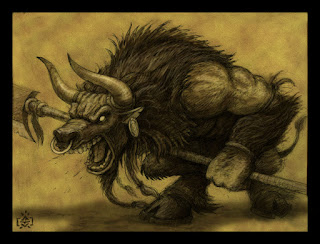Big hairy minotaur