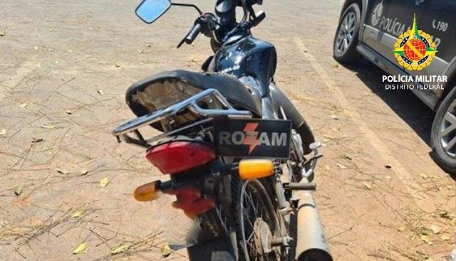 A Polícia Militar prendeu receptador de moto roubada