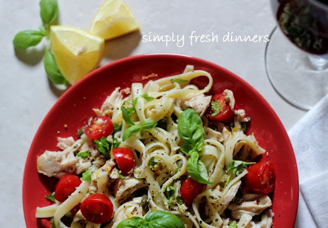 Fettuccine with Tuna, Fresh Herbs and Tomatoes