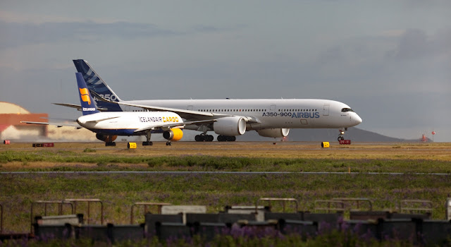 Airbus A350 and A320 Size Comparison