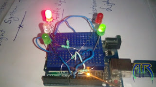 How To Make Traffic Light System with Pedestrian Crossing lights