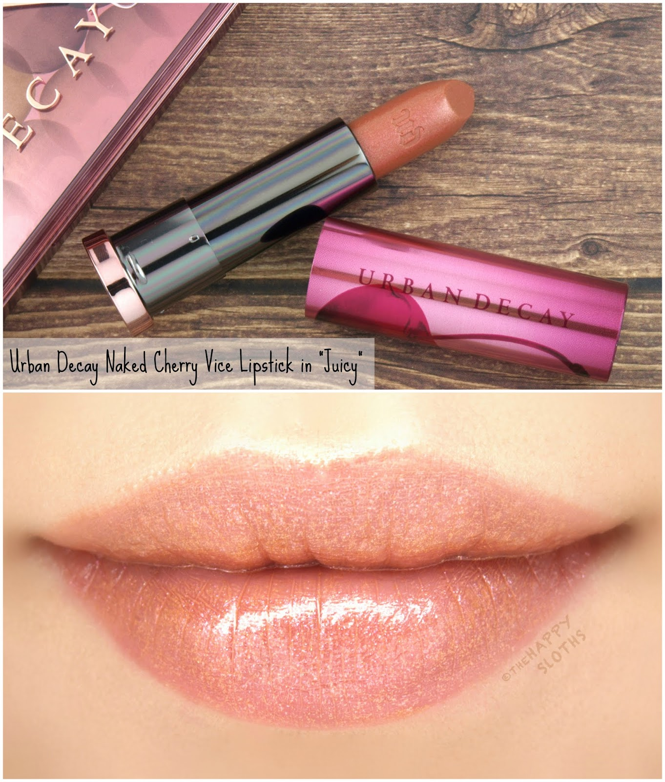 "Urban Decay | Naked Cherry Vice Lipstick in ""Juicy"": Review and Swatches"