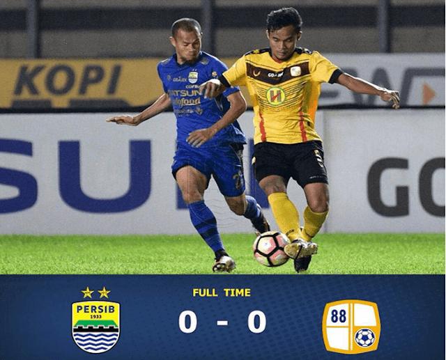 Hasil Pertandingan Persib Bandung vs Barito Putera di Stadion Si Jalak Harupat