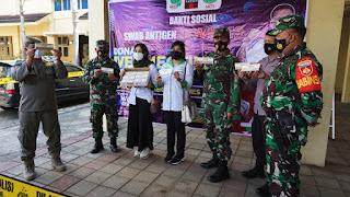 Kodim 0719/Jepara Terima Bantuan Obat-obatan Dari HKTI Semarang Bagi Pasien Covid-19