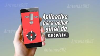 Aplicativo para celular para apontar a antena via satélite