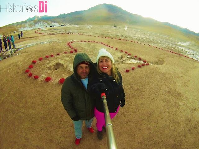 Muito amor até nos Geysers El Tatio