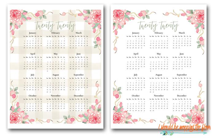 2020 Calendar Printables