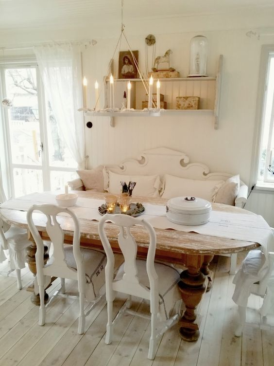 Swedish Farmhouse Christmas Decorating Interior Design