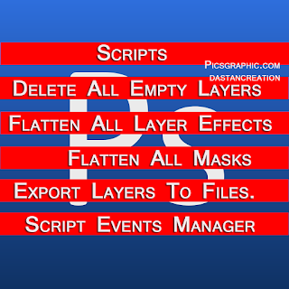 Delete All Empty Layers...Flatten All Layer Effects...Flatten All Masks...Export Layers To Files...Script Events Manager...