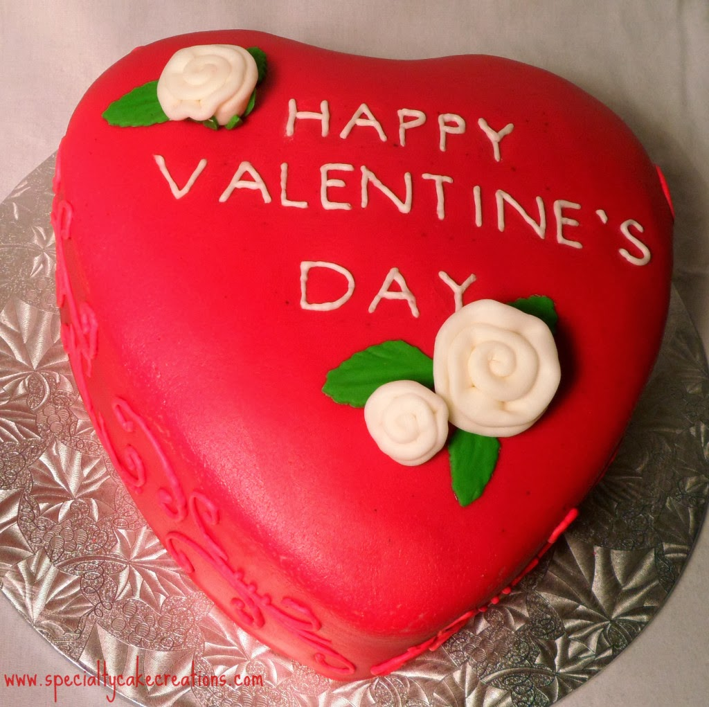 Red Valentine's Day Cake