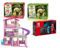 """Concorso """"Alla scoperta del Triangolino d'Oro"""" : con Valfrutta vinci 100 premi ( Console Nintendo o Casa di Barbie)"""