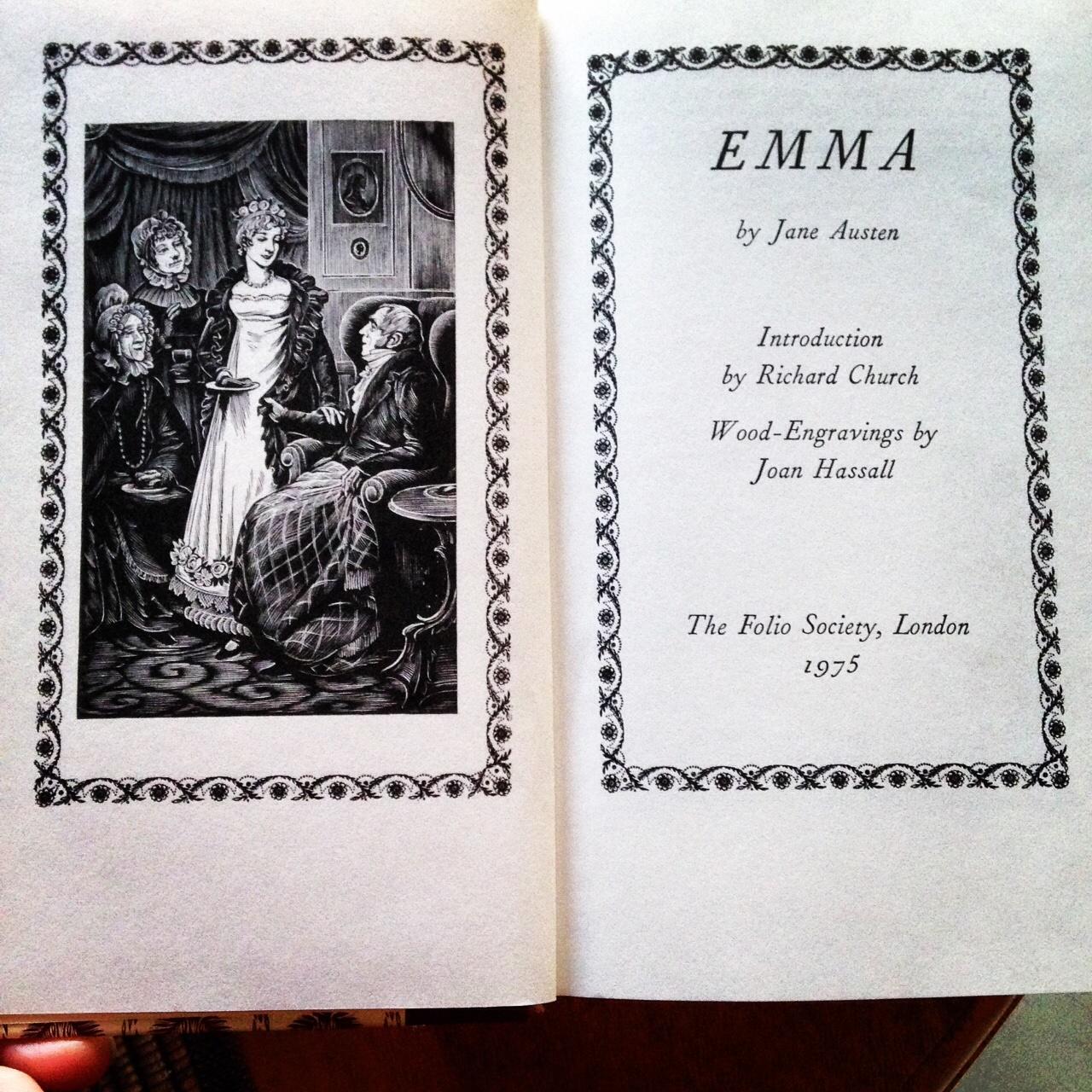 brona s books emma by jane austen title page of my folio society copy of emma